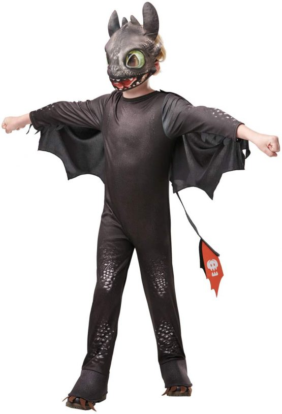 Rubie's Official How to Train Your Dragon – Toothless Dragon, Childs Costume Deluxe, Large Age 7-8 Years